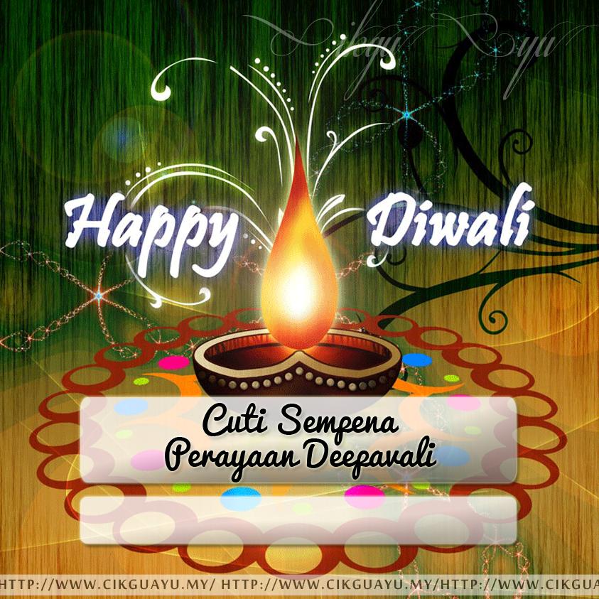 Label Cuti Sempena Perayaan Deepavali